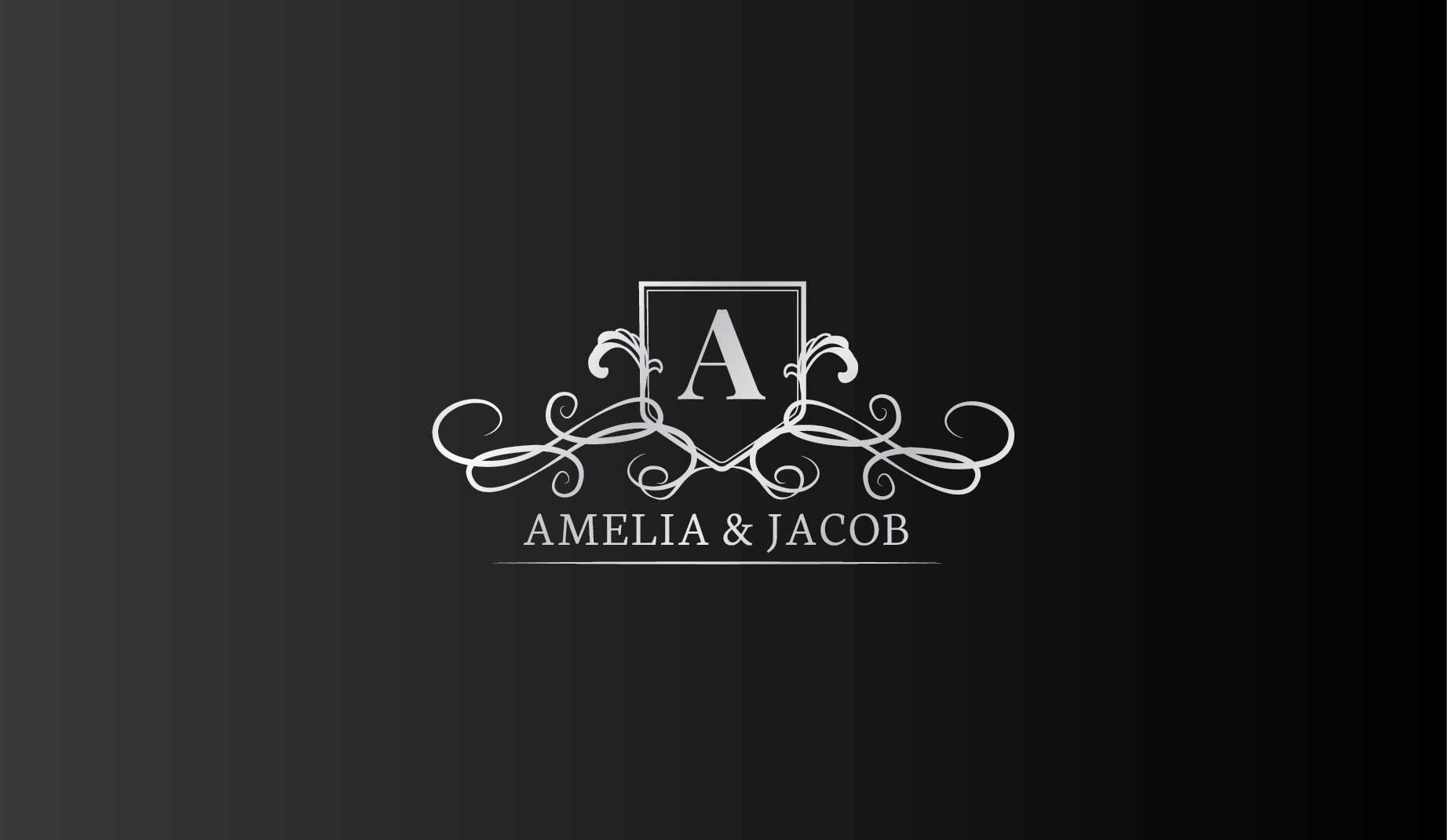 logo design service for Amelia  & Jacob