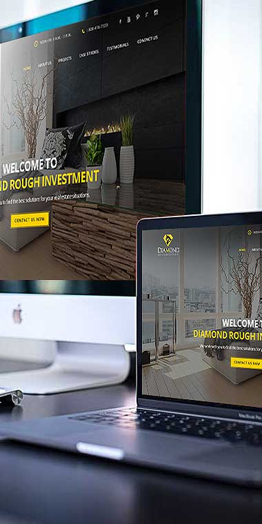web design and development service for Rough Investment