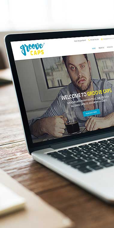 web design and development service for Groove Caps