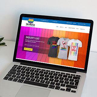 web design and development service for Skruffy Kat
