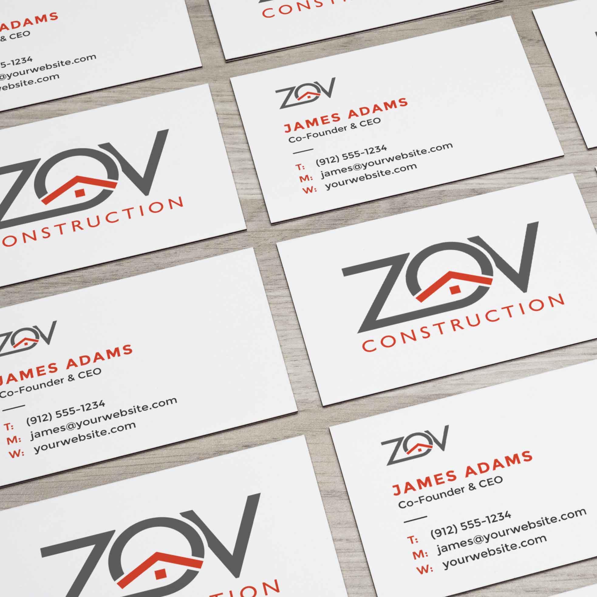 logo design service for ZQV Construction